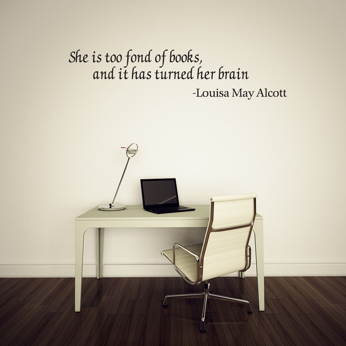 Amazoncom She Is Too Fond Of Books And It Has Turned Her Brain - Vinyl wall decals books