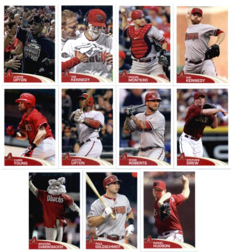 2012 Topps MLB Stickers Arizona Diamondbacks Team Set -11 Stickers including Kennedy, Goldschmidt, Ryan Roberts, (2) Justin Upton, D-Backs Mascot & more!