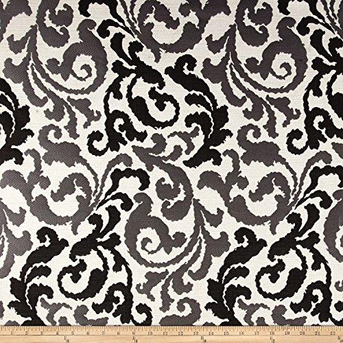 Waverly Home Decor Fabrics (Kelly Ripa Home Graceful Curves Jacquard Ebony Fabric By The Yard)