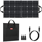 FF FLASHFISH 50W 18V Portable Solar Panel, Foldable Solar Charger with 5V USB 18V DC Output Compatible with Portable Generato