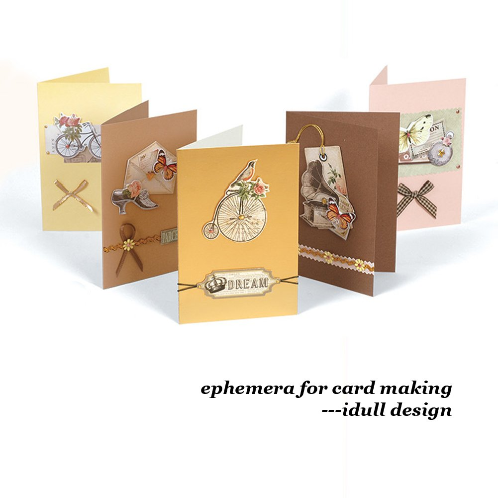 Idull Scrapbooking Ephemera Lot 3 Sets Black Cardboard Alphabets and Numbers