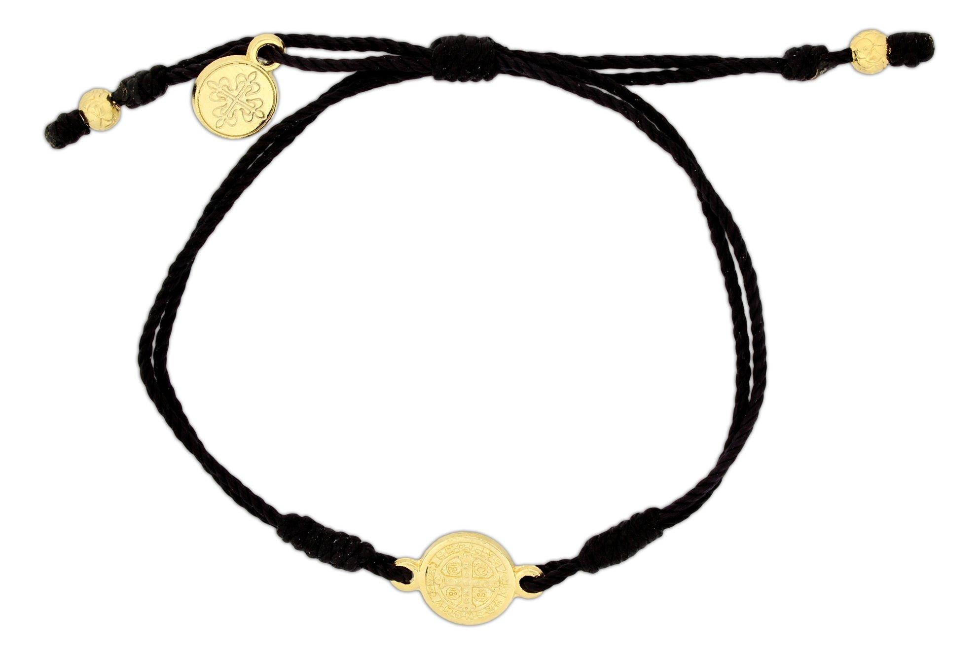 Inspirational Breathe Bracelet, Adjustable (Gold Tone on Black)