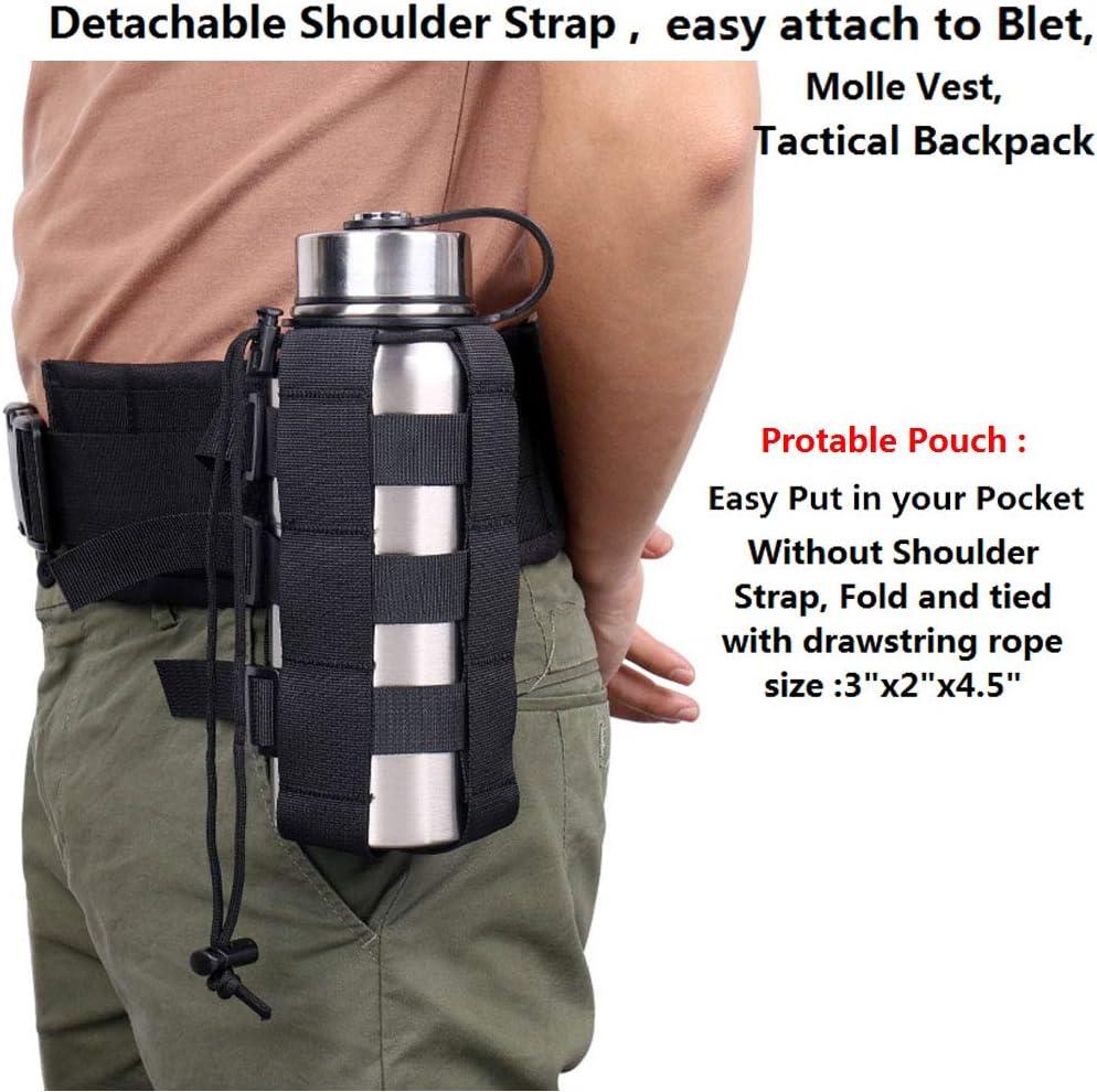 Water Bottle Cage Holder Pouch with Adjustable Shoulder Strap 2 Pocke 40 oz