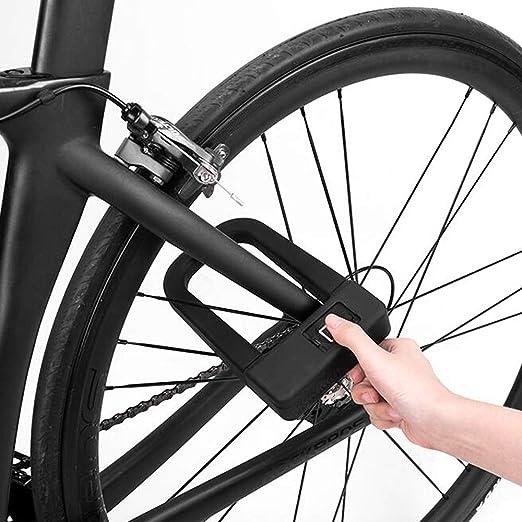 ZY Cerradura de Bicicleta Tipo U, Bloqueo de Huella Digital ...
