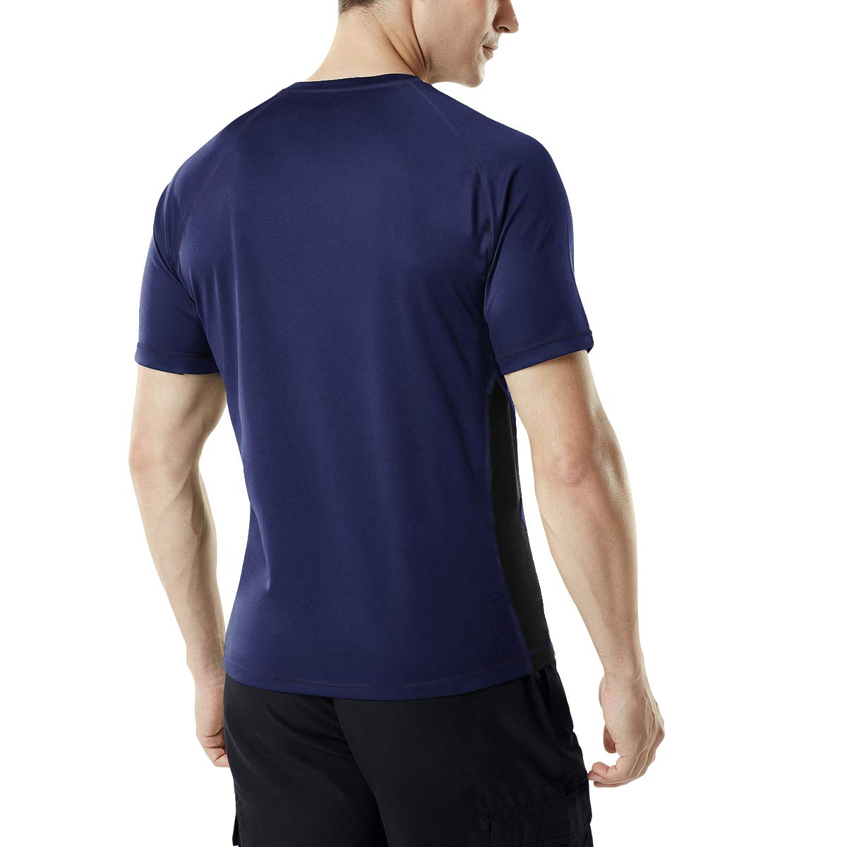 MEETYOO Kompressionsshirt Herren Laufshirt Kurzarm Funktionsshirt Atmungsaktiv Sportshirt M/änner T-Shirt f/ür Running Jogging Fitness Gym