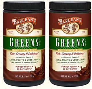 product image for Barlean's Chocolate Silk Greens Powder, Pack of 2