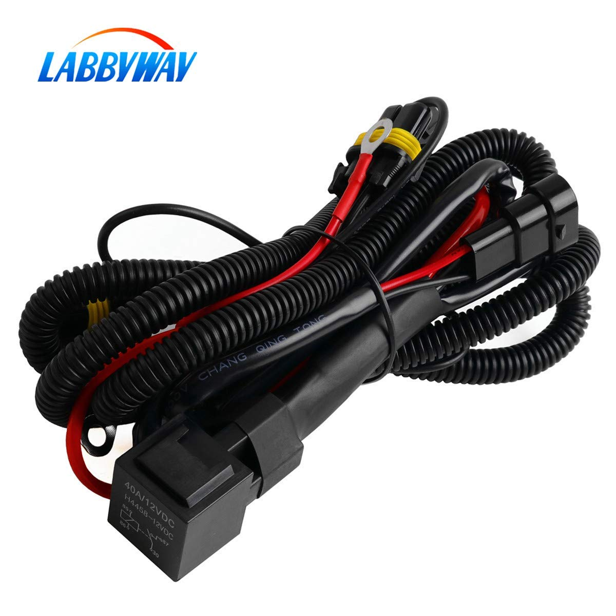 Wiring Harness Conversion Labbyway Universal Hid Kit Hydrogen Lamp Single Beam Relay Harnesssuitable For H1 H3