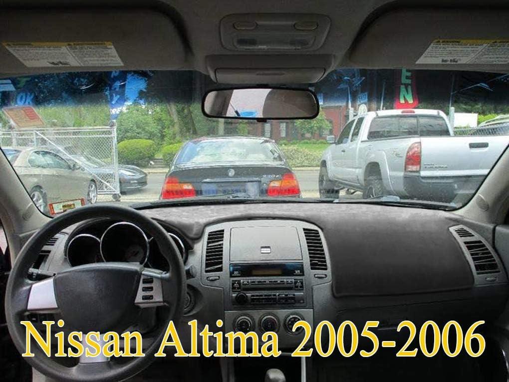 Yiz Dash Cover Mat Custom Fit for Nissan Altima 2005 2006 Dashboard Cover Pad (05-06 Black) J57