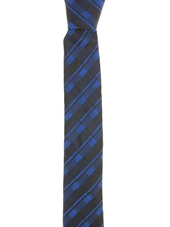 467af413bdd2 Calvin Klein Blue & Black Trilogy Plaid Men's Tie at Amazon Men's Clothing  store: