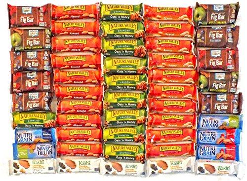 (Healthy Granola Bar Variety Snack Pack Bulk Assortment (50 Count))