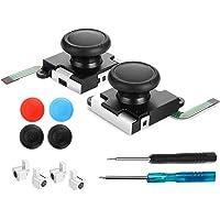 AGPtek Juego de Reemplazo de Joystick 3D, 12 en 1 Juego de Reemplazo de Sensor de Joystick Analógico 3D para el Control Joy-con de Nintendo Swtich con Herramientas de Reparación