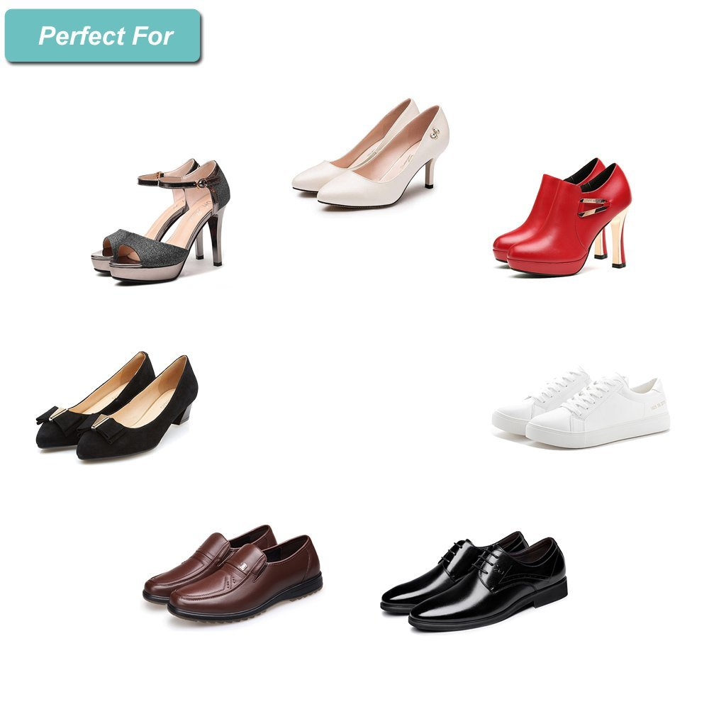High Heel Pads Heel Grips Inserts Shoe Pads Cushion Ball of Foot Insoles Liner Snugs Shoes Too Big,Clear