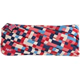 "Zipit 像素铅笔盒/化妆包 铅笔盒 8.27 x 0.78 x 3.94"" 蓝色和红色"