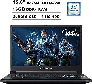 Acer 2020 Predator Helios 300 15.6 Inch FHD Gaming Laptop (9th Gen Intel 6-Core i7-9750H up to 4.5 GHz, 16GB RAM, 256GB PCIe SSD + 1TB HDD, Backlit Keyboard, GTX 1660 Ti, WiFi, Bluetooth, Win 10)