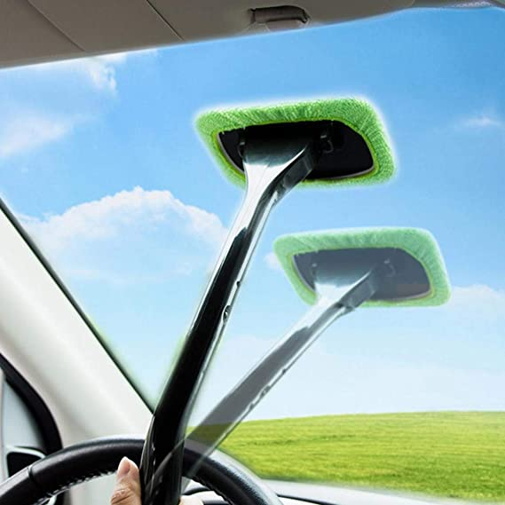 YESZ Microfiber Drying Towels for Cars Dark Blue Car Windshield Window Fog Water Dust Remove Clean Cloth Brush Cleaning Tool