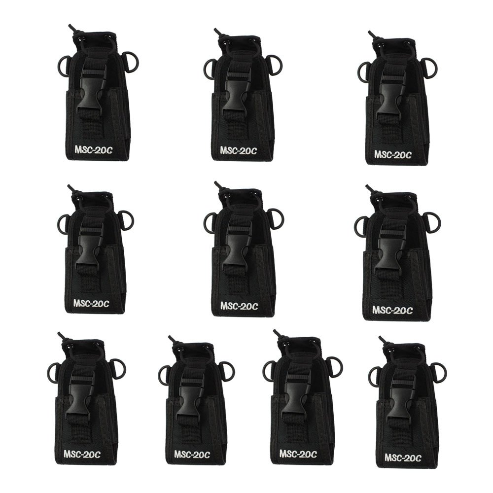 Dreamworth 10-Pack 3in1 Multi-Function Universal Pouch Bag Holster Case for GPS Pmr446 Motorola Kenwood Midland Icom Yaesu Two Way Radio Transceiver Walkie Talkie Msc-20C
