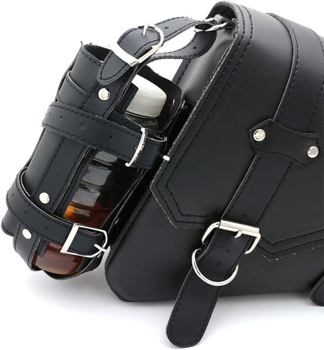 Kawasaki de piel sint/ética Yamaha bolsillos laterales para herramientas para Harely Bolsa universal para sill/ín de motocicleta Suzuki Honda