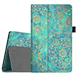 Fintie Folio Case for Amazon Fire HD 8 (2016 6th Generation), Slim Fit Premium Vegan Leather Standing Cover Auto Wake/Sleep for Fire HD 8 Tablet (2016 6th Gen Only), Shades of Blue