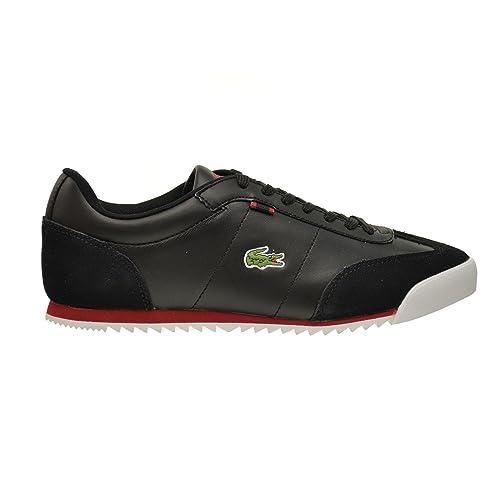 1c1880219c921 Lacoste Romeau HTB SPM Men s Leather Suede Synthetic Shoes Black Red ...