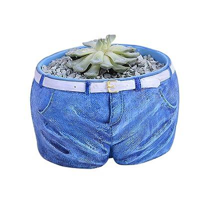 Tritow Nuevos pantalones vaqueros en forma de maceta de ...