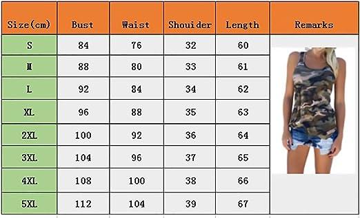 Canotta Donna Estivi Senza Maniche Rotondo Collo Tank Top Militare Camouflage Canottiere Moda Casual Estate Unisex Blusa T-Shirt Top