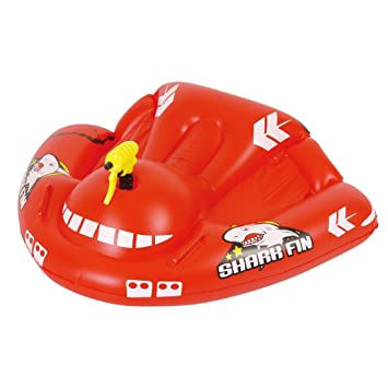 JILONG Shark Fin Airplane Rider - Tabla de surf, con pistola de pulverización y asideros