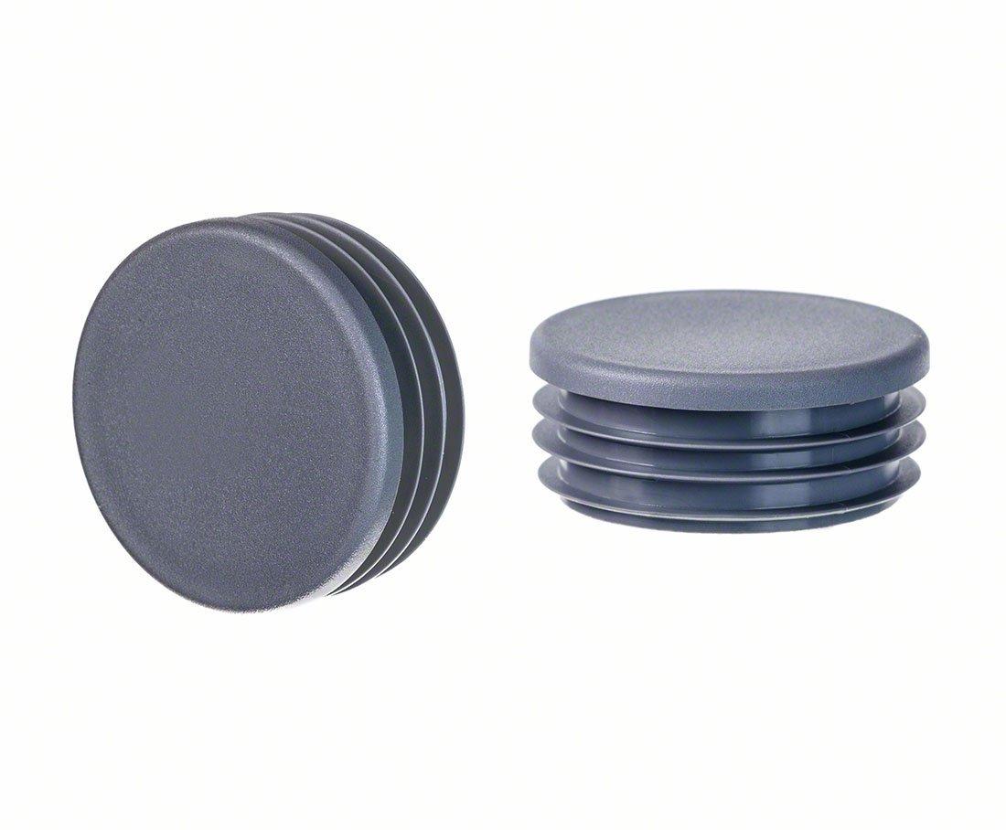 10 Stck bouchon pour tube rond 19 gris plastique Embout bouchons dobturation