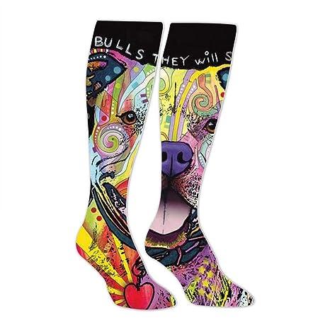 Amazon com: Pit Bulls Dog Unisex Tube High Knee Thigh Stockings