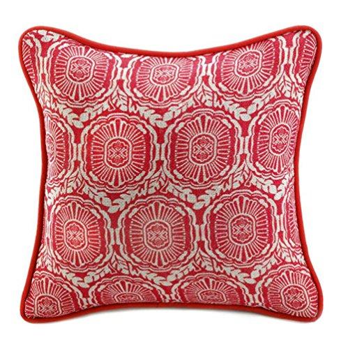 Fennco Styles Jute-Like Texture Heritage Print Red Decorative Throw Pillow (Kohls Toss Pillows)