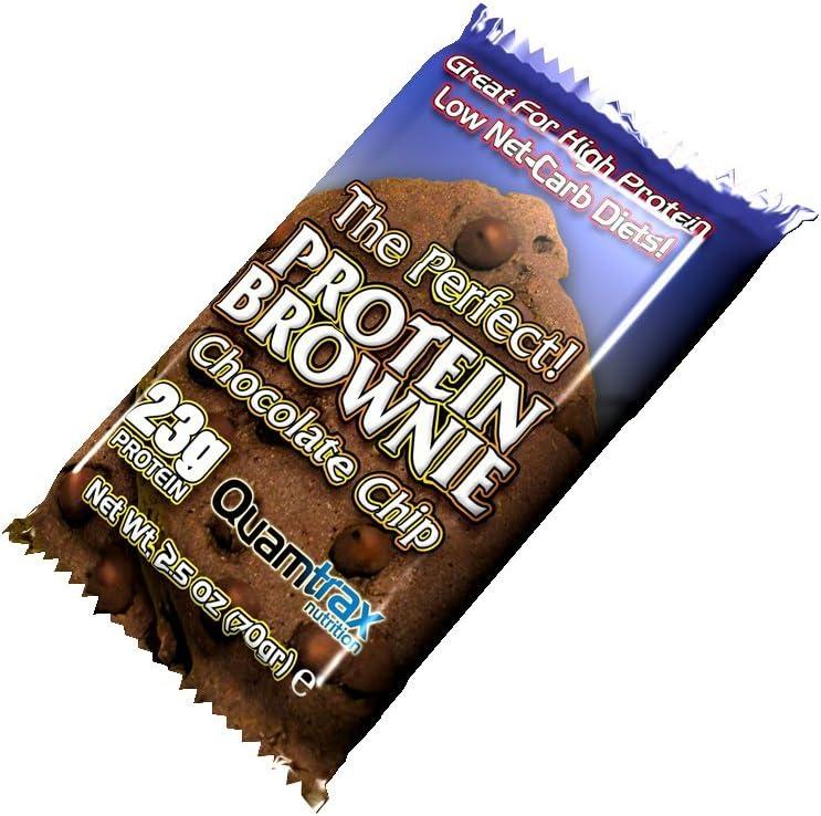 Quamtrax protein brownies, 24 x 70g (galletas de proteína ...