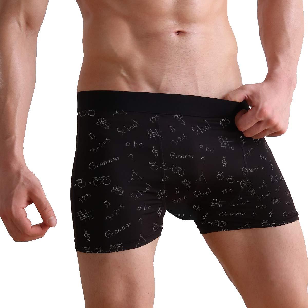 Charlley Lee Mens Soft Breathable Black Math Equation Underwear Boxer Briefs