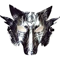 Cosplay Wolf Costume Mask Full Face Masquerade Mask for Men Women Halloween Party Game Decoration Golden