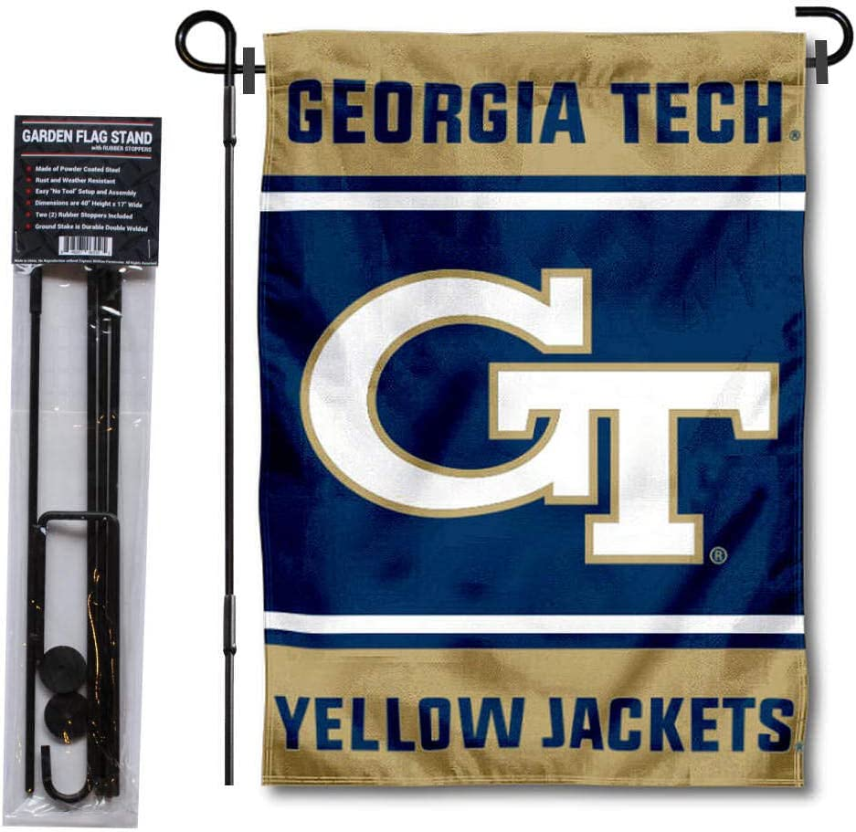 College Flags & Banners Co. Georgia Tech Yellow Jackets Garden Flag with Stand Holder