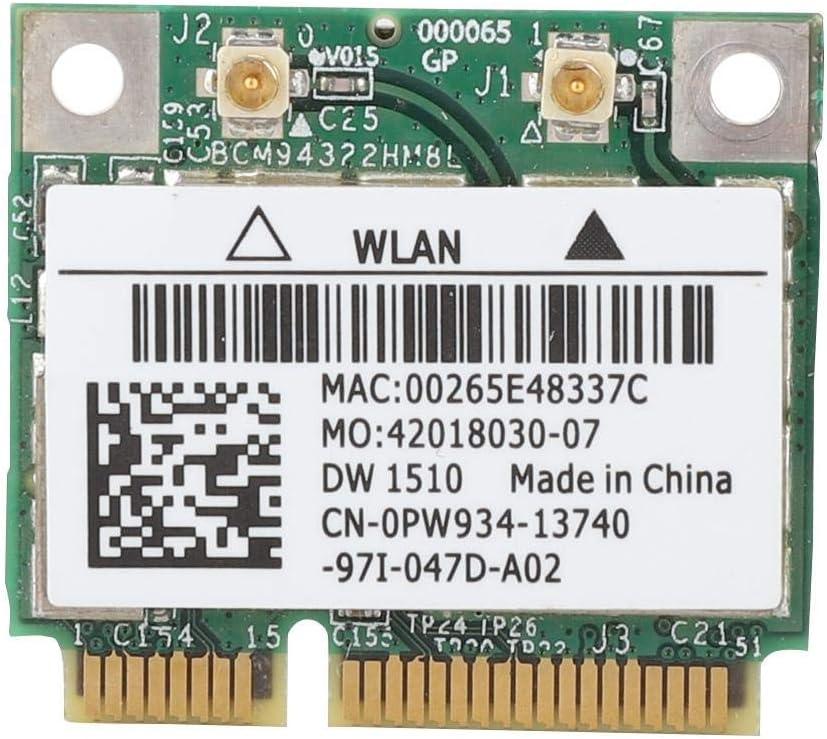 Tangxi DW1510 BCM94322HM8L Dual Band 300Mbps Mini PCI-E Wireless Network Card for DELL E4200 E5500 E4300M2400 M6400 etc