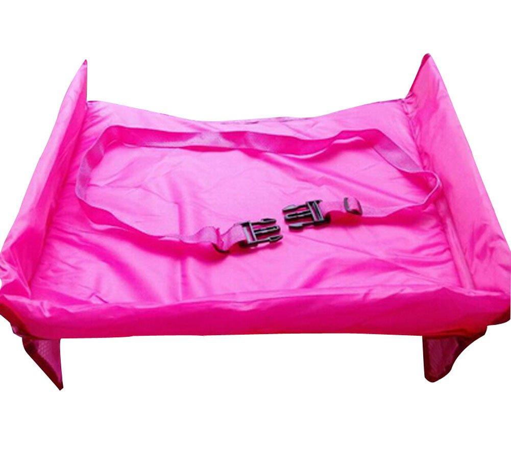WANGSCANIS Kids Travel Snack & Toy Tray Car Organizer, Baby Stroller Accessories - Durable, Sturdy Design (Black)
