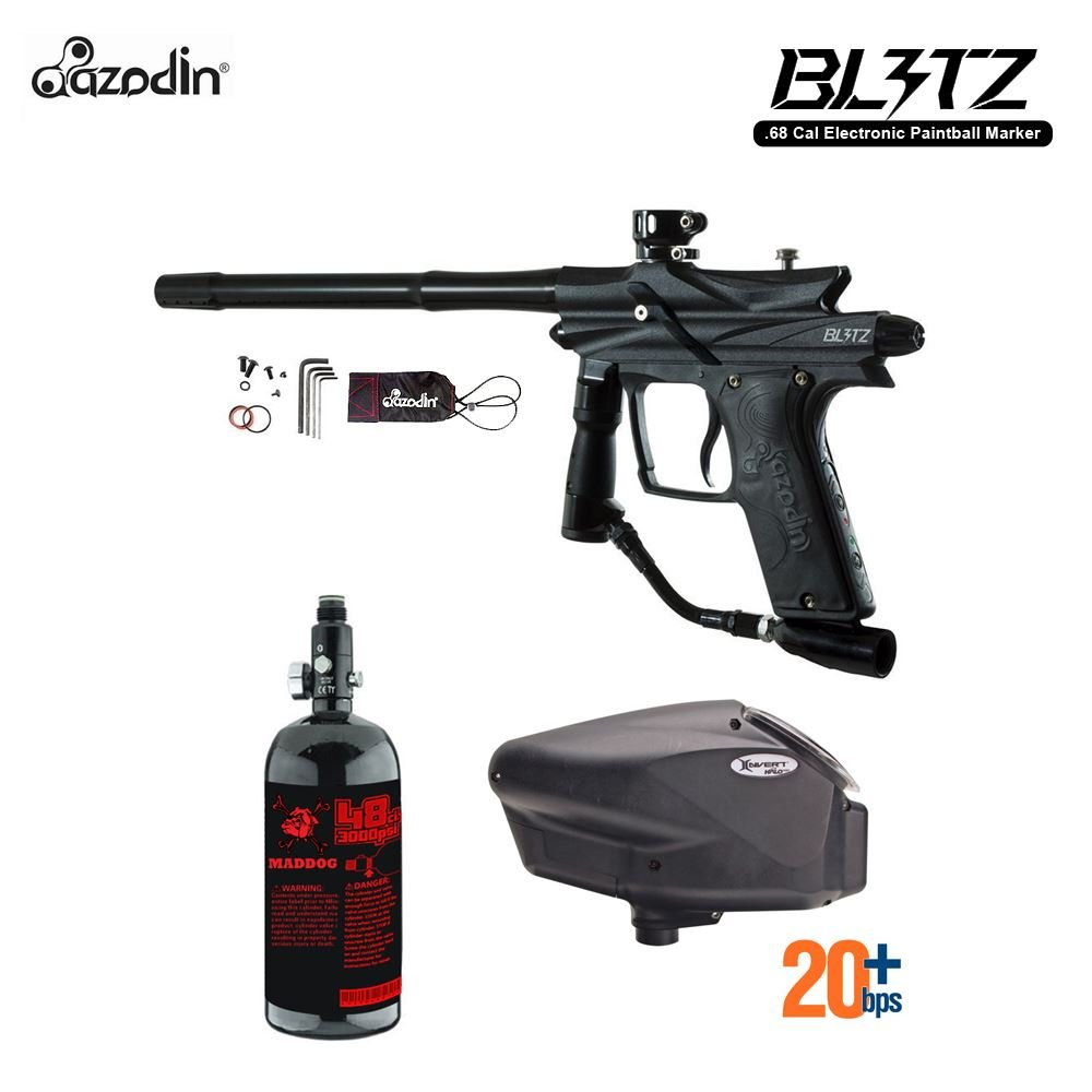 MAddog Azodin Blitz 3 HPA Paintball Gun Package - Black by MAddog