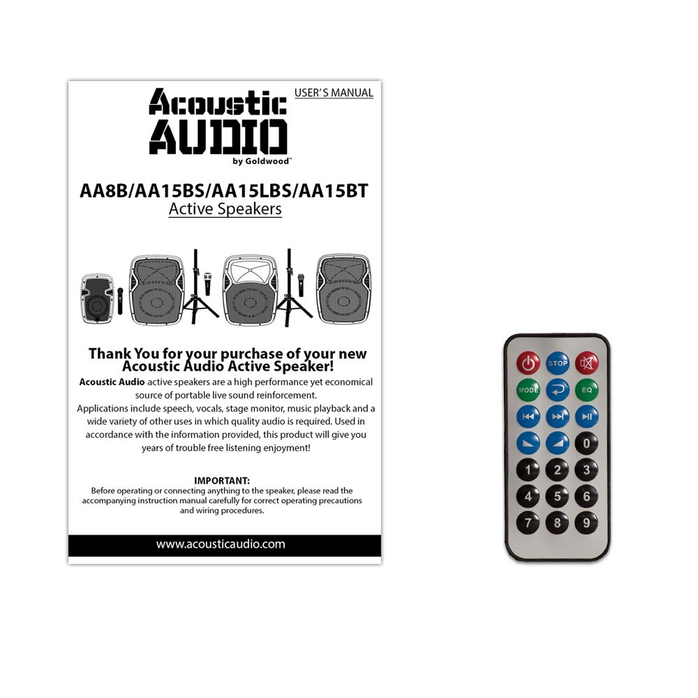 Acoustic Audio By Goldwood Aa15bt Powered 15 Bluetooth Wiring Plans For Nightclub Speaker With Built In Usb Player And Fm Electronics