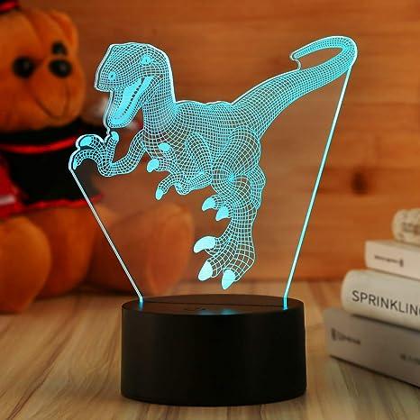Dinosaur Night Lights For Kids Christmas Gift Toy Birthday Jurassic Park Raptor