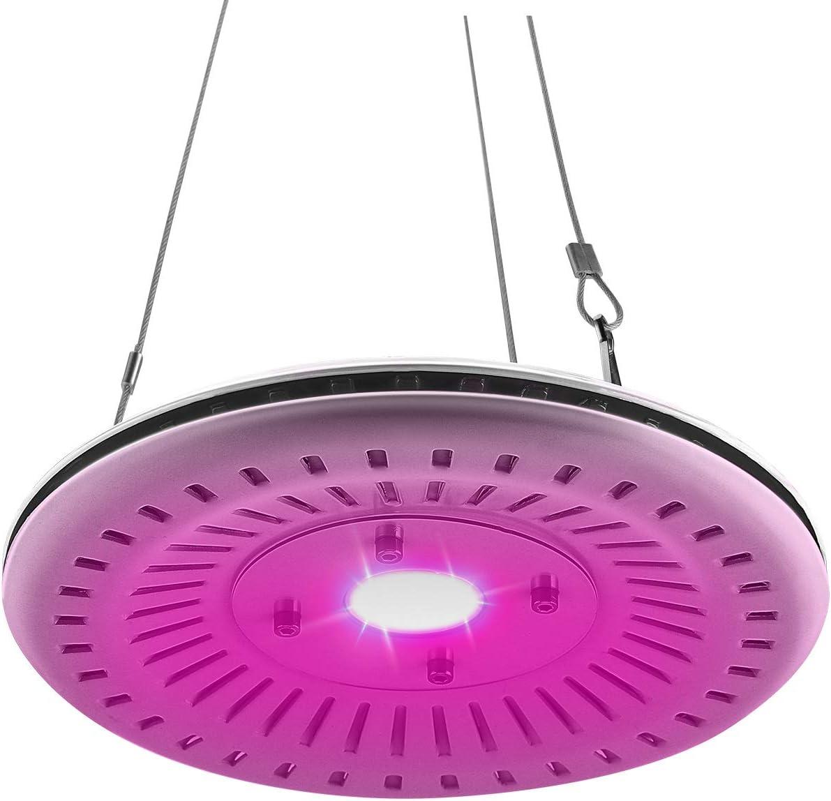 FECiDA 40W UFO LED Grow Light Waterproof, 200W CFL Grow Light Bulb Equivalent, Professional Full Spectrum LED Plant Grow Light for Succulents, Tomato, Lettuce, Seedlings, Indoor Vegetables Growing