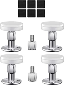 Cretbel 4PCS Adjustable Bed Frame Anti-Shake Tool (Upgraded), Headboard Stoppers with Free Furniture Pads and Screws, No More Creaking, Protect The Wall from Banging, Easy to Install (1.1-2.5in)