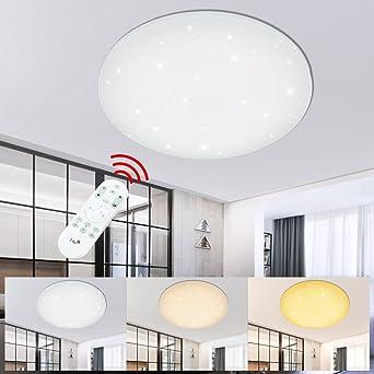 100W Dimmbar LED Deckenleuchte Sternen Himmel Decke Beleuchtung Panel Ultraslim