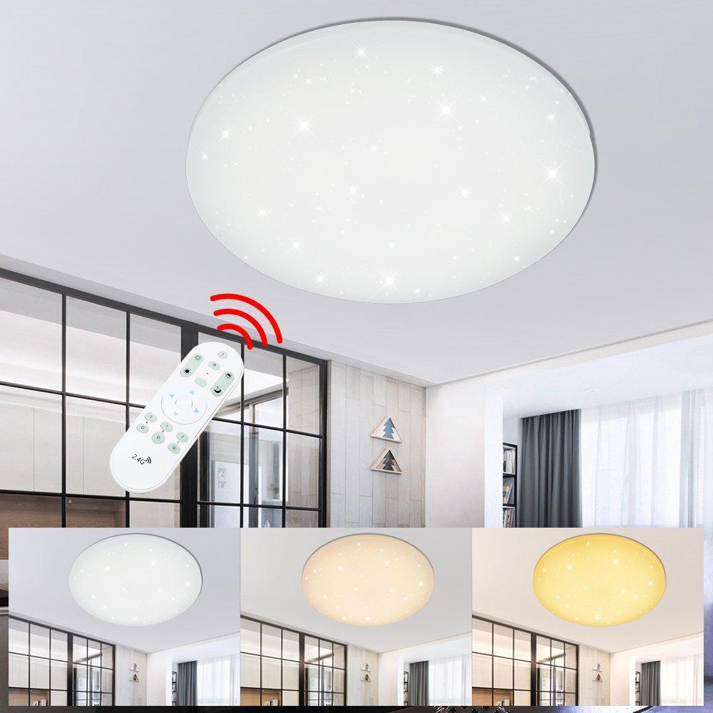 VGO® 100W LED Deckenlampe SternenHimmel Moderne Dimmbar Rund Deckenleuchte Schlafzimmer Wohnzimmer Energieklasse A++