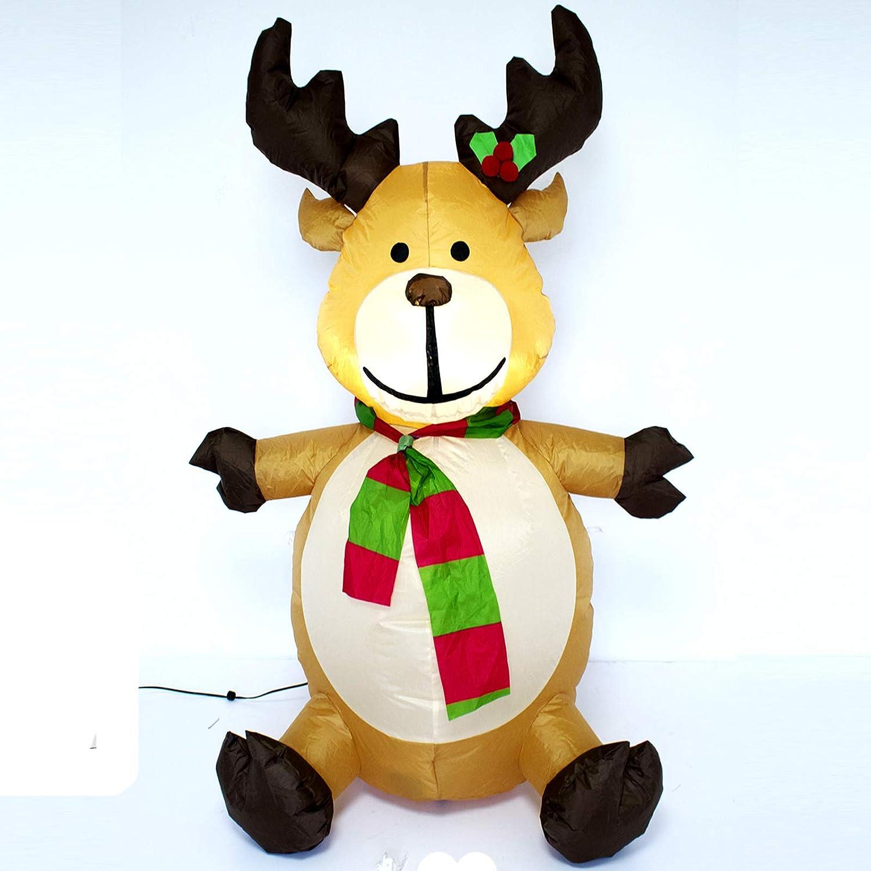 Hinchable de reno de Navidad con 1 led 120 cm: Amazon.es: Hogar