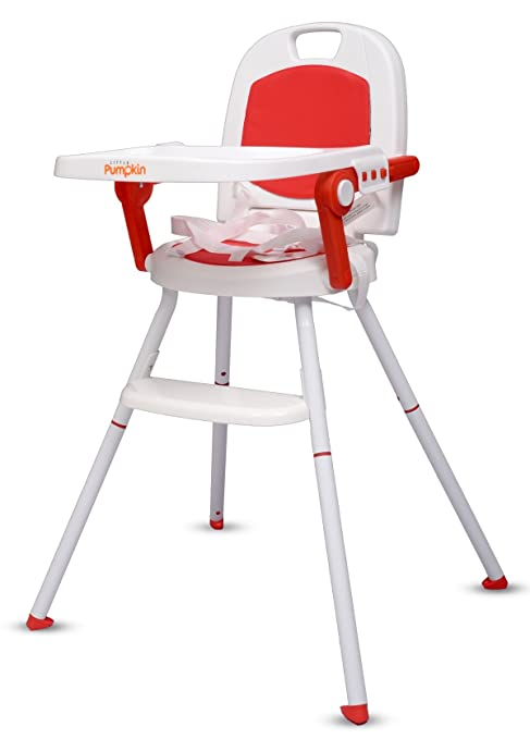 Little Pumpkin Kiddie Kingdom 3 In 1 Foldable High Chair (Red)