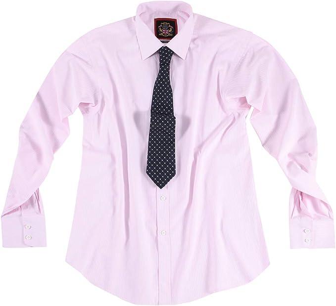 Marca Janeo British Apparel, Camisa para Hombre Modelo Canterbury Clásico, De Rayas Finas Blancas, Puños Simples y Dobles: Amazon.es: Ropa y accesorios
