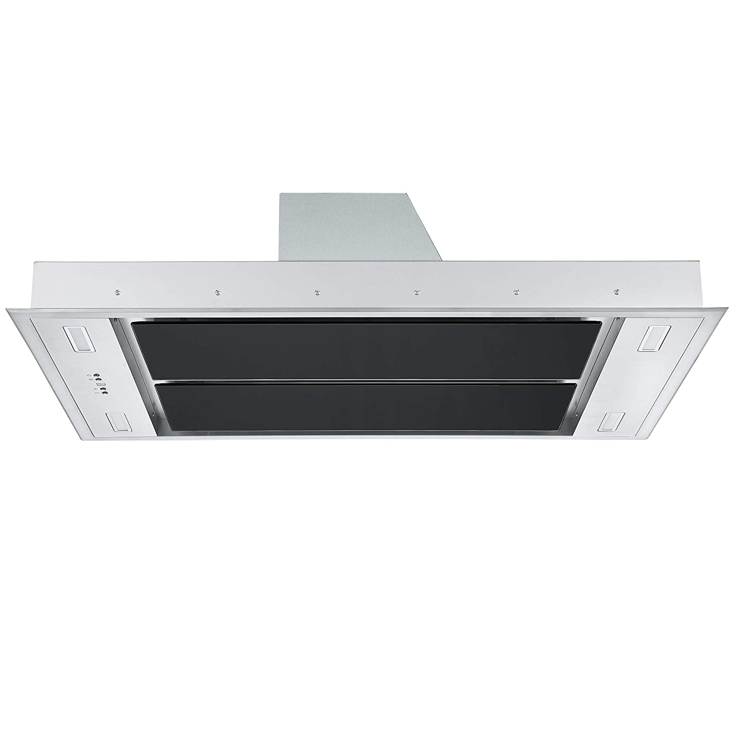 Cookology 110cm Kitchen Ceiling Island Cooker Hood /& Extractor Fan Remote White