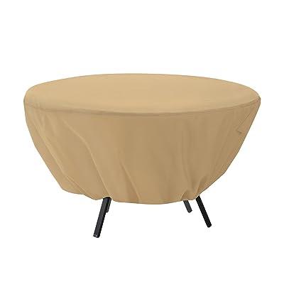 Mitef Waterproof Round Patio Table Cover - Outdoor Furniture Cover(50 inch, Beige) : Garden & Outdoor