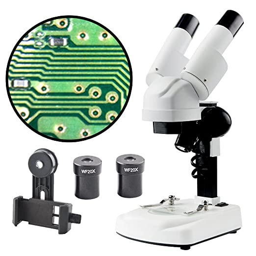 Landove 20-40X Magnifications Microscope Stereo with Smartphone Adaptor