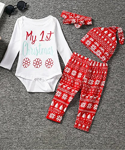 SRYSHKR Christmas Infants Baby Long Sleeves Cotton Set Love Pattern Trousers Hat Three-piece Suit (XL, - A-z Designer Brands List