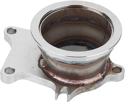 Aramox V Band Adapter 5 Bolzen Auf 3 V Band Flansch Turboadapter Edelstahl Adapter Für T3 T4 Turbo Auto